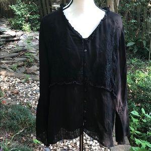 Soft surroundings embellished blouse size 3X